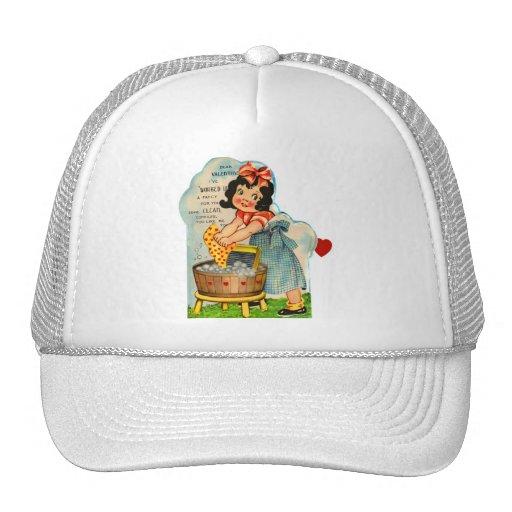 Retro Vintage Kitsch Valentine Worked Up A Fancy Trucker Hat
