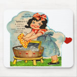 Retro Vintage Kitsch Valentine Worked Up A Fancy Mouse Pads