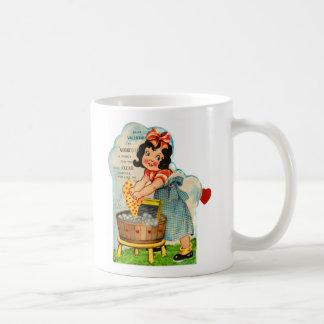 Retro Vintage Kitsch Valentine Worked Up A Fancy Classic White Coffee Mug