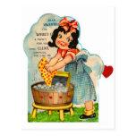 Retro Vintage Kitsch Valentine Worked Up A Fancy Postcard