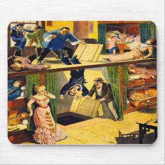 Retro Vintage Kitsch Vaudeville 'Opium Den Murder' Mouse Pad