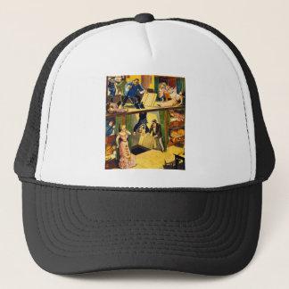 Retro Vintage Kitsch Vaudeville 'Opium Den Murder' Trucker Hat