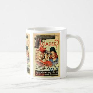 Retro Vintage Kitsch VD Propaganda 'Loaded' Coffee Mug