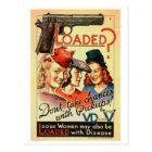 Retro Vintage Kitsch VD Propaganda 'Loaded' Postcard