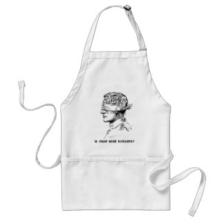 Retro Vintage Kitsch Vice Is Your Head Diseased? Adult Apron
