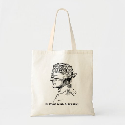 Retro Vintage Kitsch Vice Is Your Head Diseased? Canvas Bag