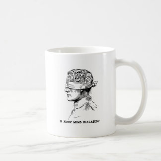 Retro Vintage Kitsch Vice Is Your Head Diseased? Coffee Mug