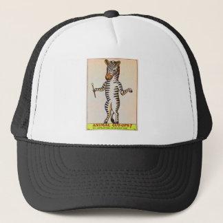 Retro Vintage Kitsch Walking Zebra Book Trucker Hat
