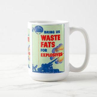 Retro Vintage Kitsch War Bring Us Your Waste Fats Coffee Mug