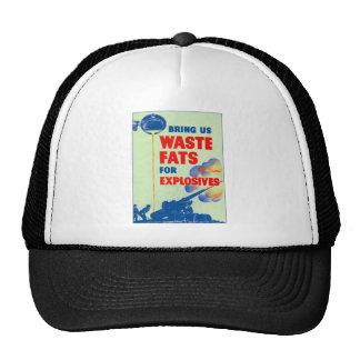 Retro Vintage Kitsch War Bring Us Your Waste Fats Hat