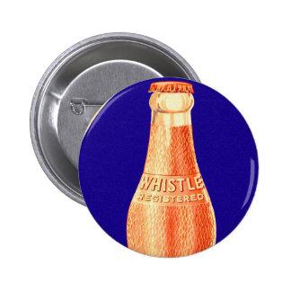 Retro Vintage Kitsch Whistle Soda Pop Bottle Ad Pinback Button