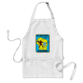 Retro Vintage Kitsch Wisconsin Paul Bunyan Decal Adult Apron