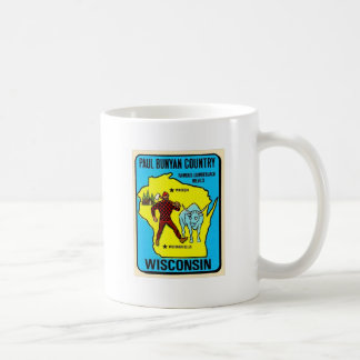 Retro Vintage Kitsch Wisconsin Paul Bunyan Decal Coffee Mug