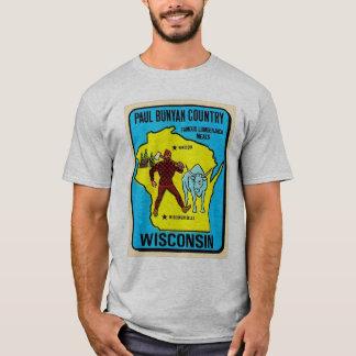 Retro Vintage Kitsch Wisconsin Paul Bunyan Decal T-Shirt