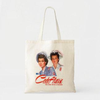 Retro Vintage Kitsch WW2 Cadet Nurse Tote Bags