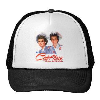 Retro Vintage Kitsch WW2 Cadet Nurse Trucker Hat