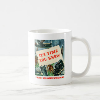 Retro Vintage Kitsch WW2 'It's Time You Knew' Fact Coffee Mug