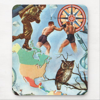 Retro Vintage Kitsch WW2 'It's Time You Knew' Fact Mouse Pad