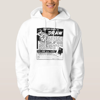 Retro Vintage Kitsch You Can Learn To Draw Ad Hoodie