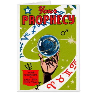 Retro Vintage Kitsch Your Prophesy Cards