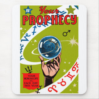 Retro Vintage Kitsch Your Prophesy Mouse Pad