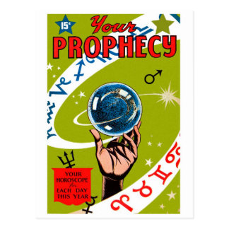 Retro Vintage Kitsch Your Prophesy Post Card