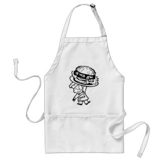 Retro Vintage Kitsch Zim's Hamburgers Adult Apron