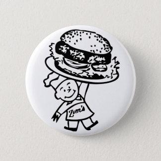 Retro Vintage Kitsch Zim's Hamburgers Button