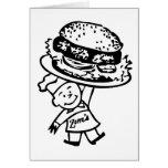 Retro Vintage Kitsch Zim's Hamburgers Greeting Card