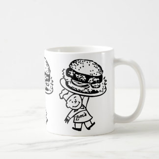 Retro Vintage Kitsch Zim's Hamburgers Coffee Mug