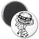 Retro Vintage Kitsch Zim's Hamburgers Magnets