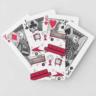 RETRO VINTAGE LIVING ROOM RED CARDS