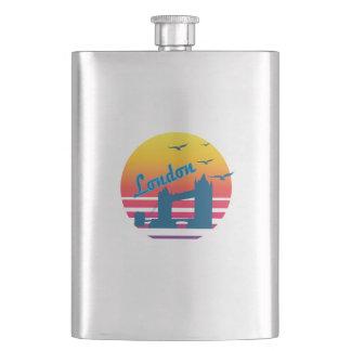 Retro Vintage London Sunset, #London Flask