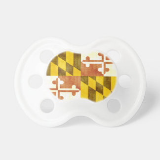 Retro Vintage Maryland Flag Pacifier