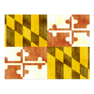 Retro Vintage Maryland Flag Postcard