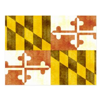 Retro Vintage Maryland Flag Postcard