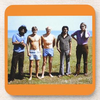 Retro Vintage Men 1970's Funny Picture Coasters