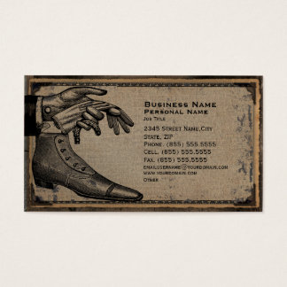 Retro Vintage Men's Fashion Shoes Business Card