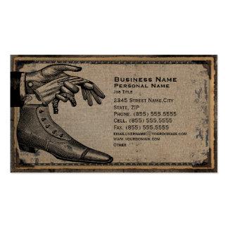 Retro Vintage Men's Fashion Shoes Business Card