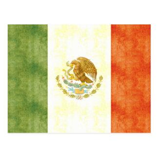 Retro Vintage Mexico Flag Postcard