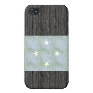 Retro Vintage Micronesia Flag iPhone 4 Covers