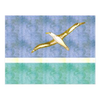 Retro Vintage Midway Islands Flag Postcard