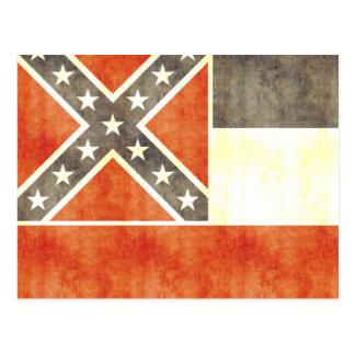 Retro Vintage Mississippi Flag Postcard
