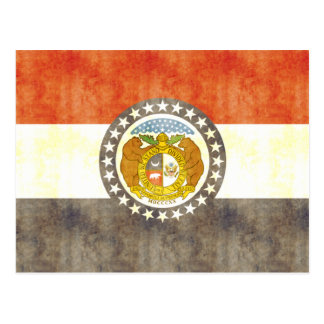 Retro Vintage Missouri Flag Postcard