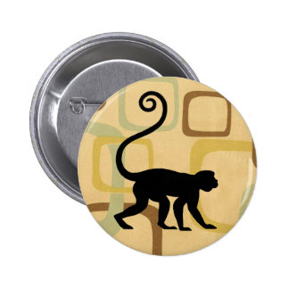 Retro Vintage Monkey Button