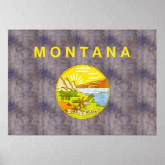 Retro Vintage Montana Flag Posters