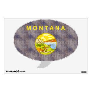Retro Vintage Montana Flag Room Graphics
