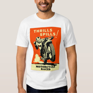 Retro Vintage Motorcycles Races Thrills Spills T-shirt