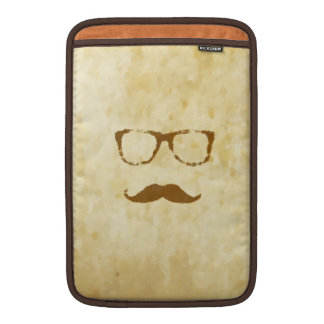 Retro Vintage Moustache Pattern MacBook Sleeve