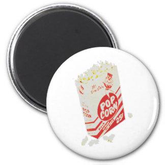 Retro Vintage Movie Theater Popcorn 2 Inch Round Magnet